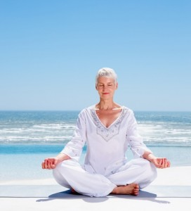 Yoga may help you find relief from this menopause symptom.